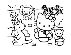Hello kitty da colorare 71
