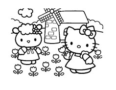 Hello kitty da colorare 72