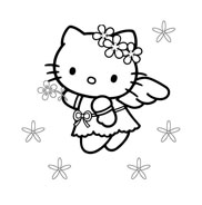 Hello kitty da colorare 73