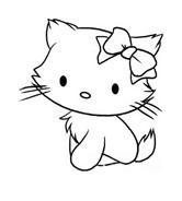 Hello kitty da colorare 74