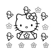 Hello kitty da colorare 75