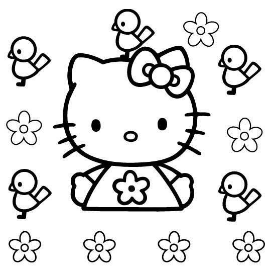 Hello kitty da colorare 75