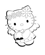 Hello kitty da colorare 77