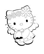 Hello kitty da colorare 77
