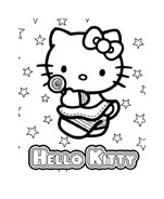 Hello kitty da colorare 78
