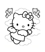 Hello kitty da colorare 79