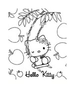 Hello kitty da colorare 80
