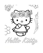 Hello kitty da colorare 81