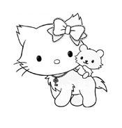 Hello kitty da colorare 85