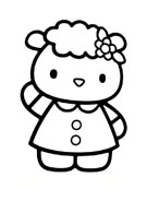 Hello kitty da colorare 86