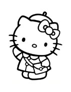 Hello kitty da colorare 87