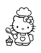 Hello kitty da colorare 88