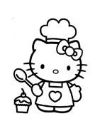 Hello kitty da colorare 88