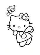Hello kitty da colorare 89