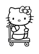 Hello kitty da colorare 92