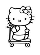 Hello kitty da colorare 92
