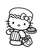 Hello kitty da colorare 93