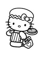 Hello kitty da colorare 93