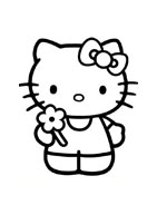 Hello kitty da colorare 94
