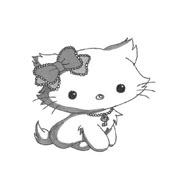 Hello kitty da colorare 96