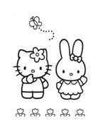 Hello kitty da colorare 99
