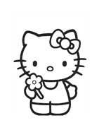 Hello kitty da colorare 100