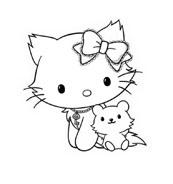 Hello kitty da colorare 107