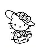 Hello kitty da colorare 108
