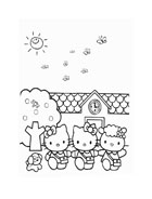Hello kitty da colorare 109