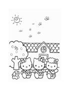 Hello kitty da colorare 109