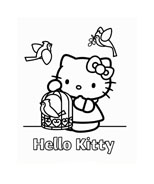 Hello kitty da colorare 111