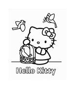 Hello kitty da colorare 111