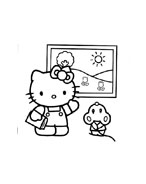 Hello kitty da colorare 112
