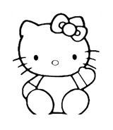 Hello kitty da colorare 113