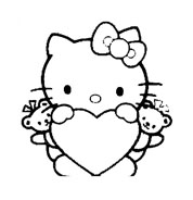 Hello kitty da colorare 114