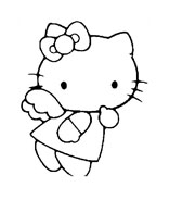 Hello kitty da colorare 115