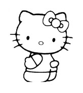 Hello kitty da colorare 116