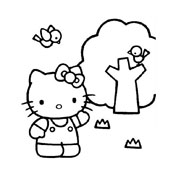 Hello kitty da colorare 117