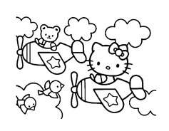 Hello kitty da colorare 118