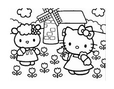 Hello kitty da colorare 120