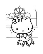 Hello kitty da colorare 121