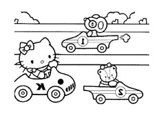 Hello kitty da colorare 122