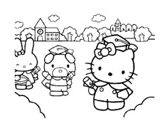 Hello kitty da colorare 123