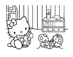 Hello kitty da colorare 124