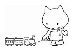 Hello kitty da colorare 127