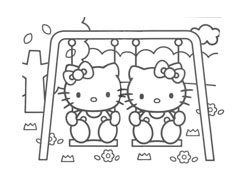 Hello kitty da colorare 129