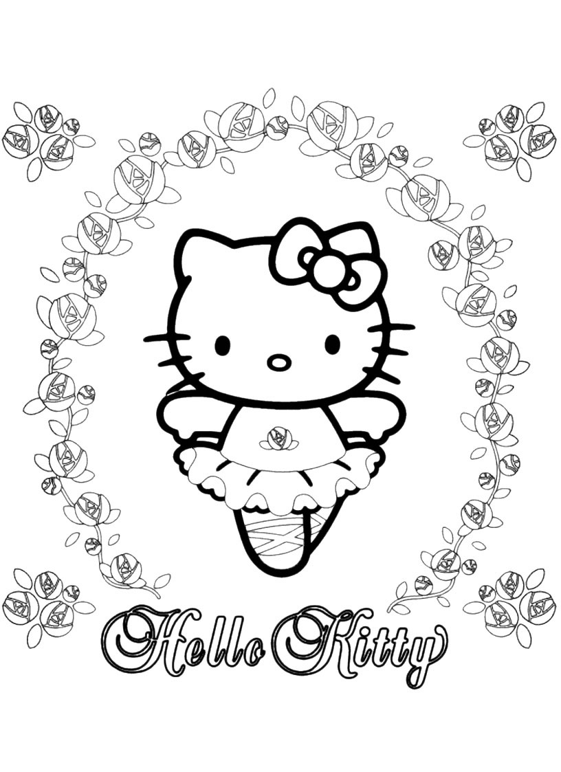 Hello kitty da colorare 134