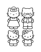 Hello kitty da colorare 135