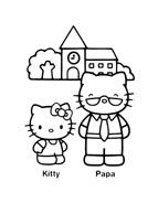 Hello kitty da colorare 137