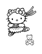 Hello kitty da colorare 138